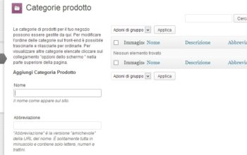 Gestione Categorie WordPress e Woocommerce